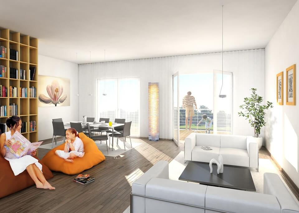 mini rolety w mieszkaniu